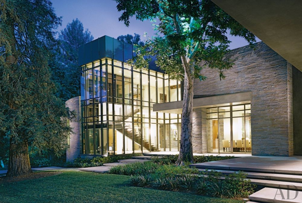 exterior by everage design by architectural digest ad los angeles custom home builders new home designer amp builder