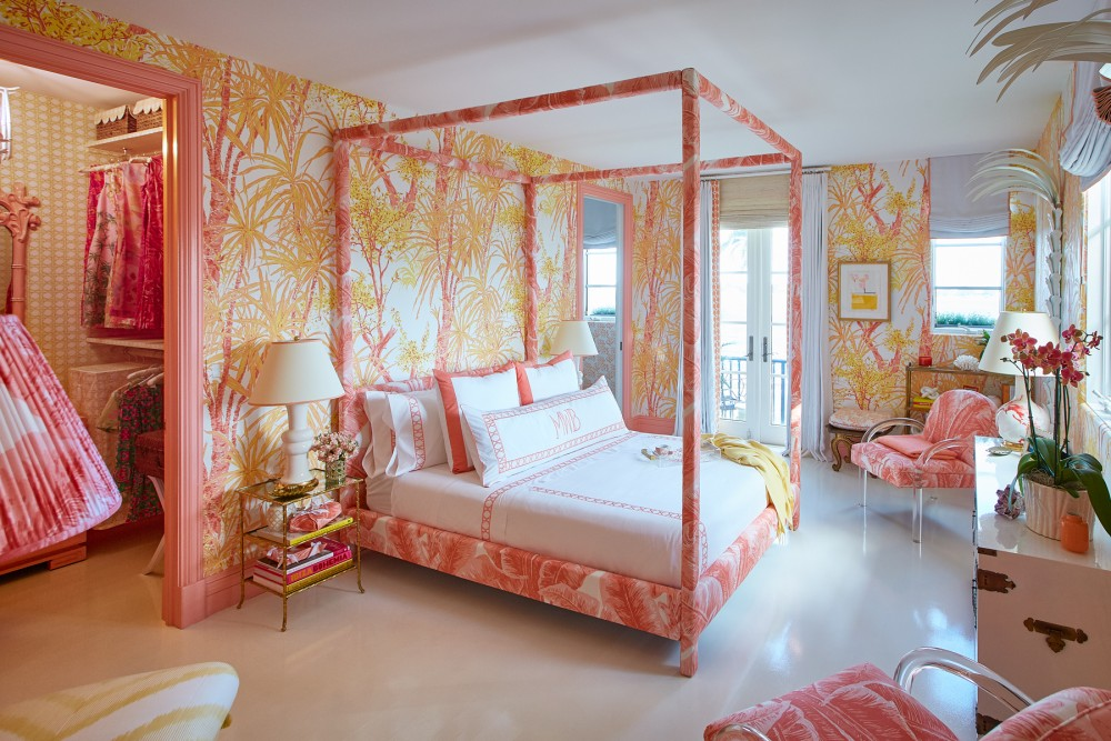 Pinks, whites and apricots in bursting floral patterns evoke a dynamic energy, recalling a Florida of days gone by while still feeling thoroughly modern.