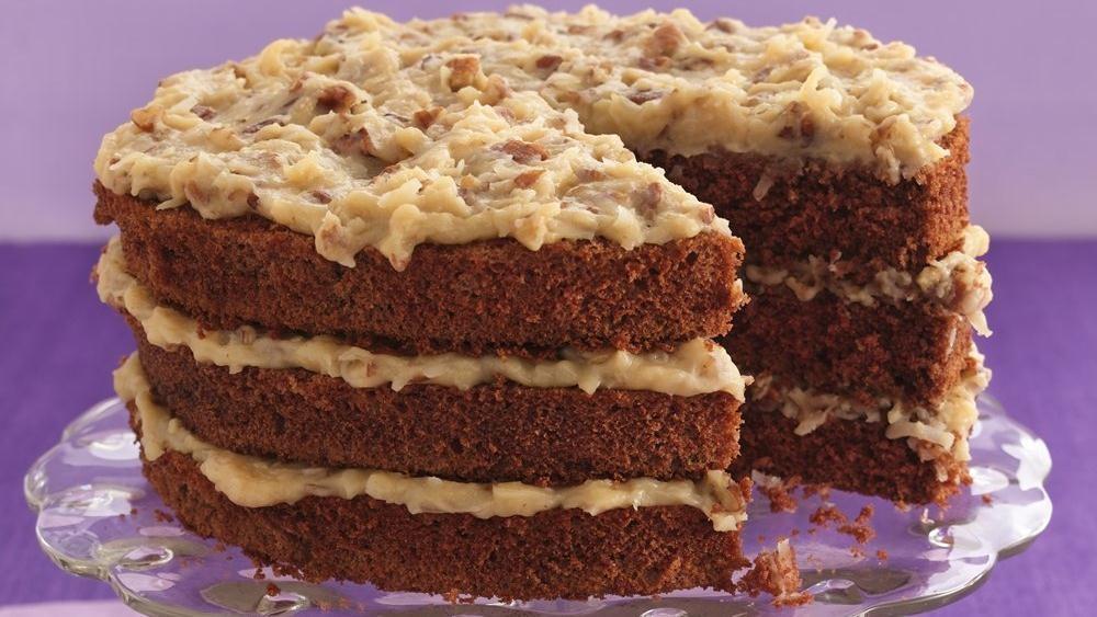 Chocolate Coconut Pecan Cake
