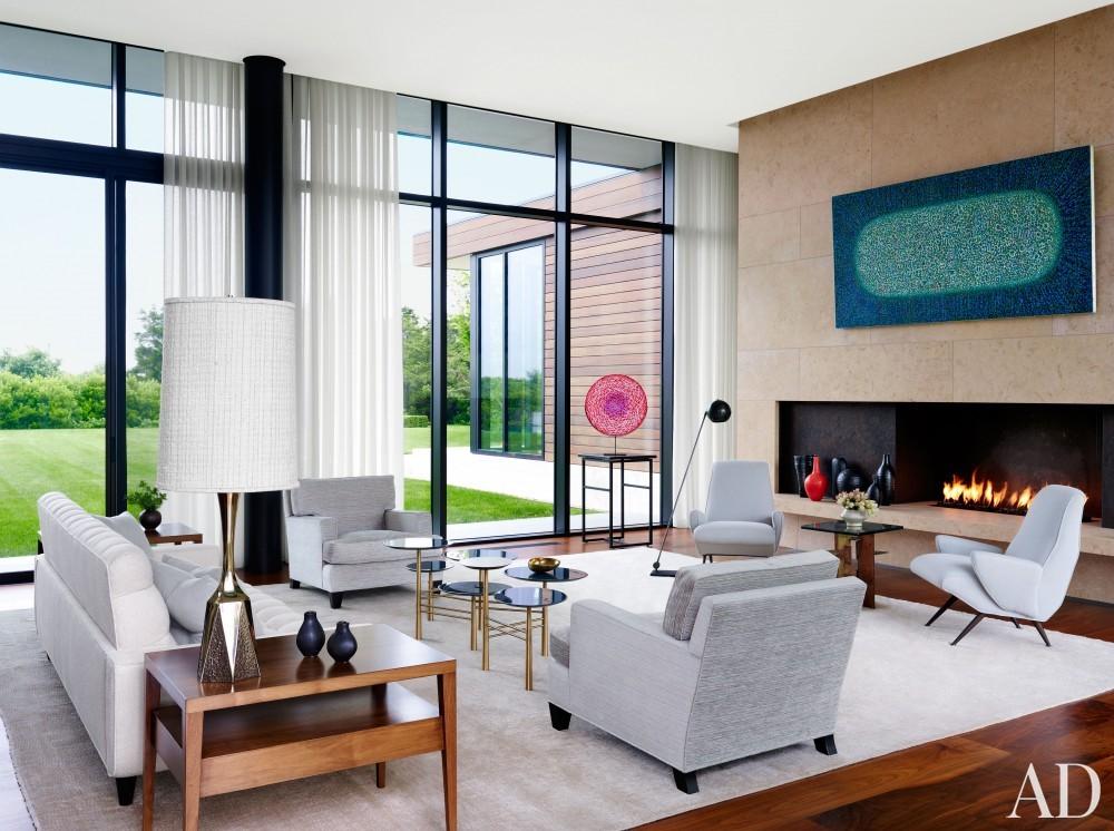 Modern Living Room by Sawyer | Berson and Randi Puccio in Bridgehampton, NY