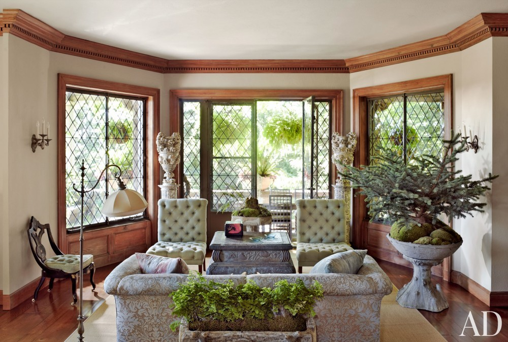 Traditional Living Room by Martha Stewart and Duncan Candler in Mount Desert Island, ME