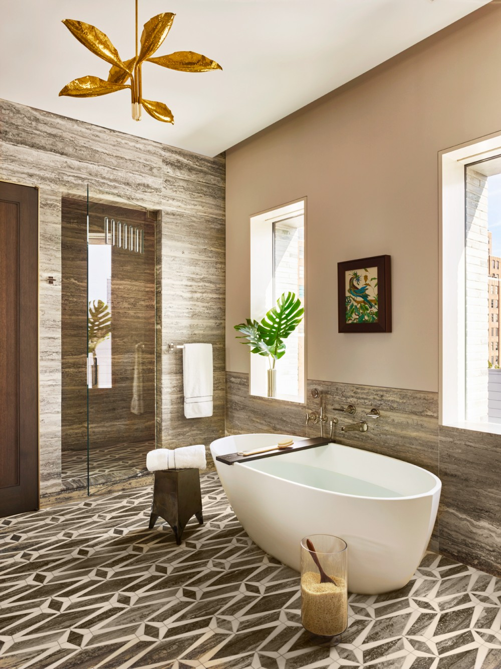 Bathroom By Dufner Heighes By Architectural Digest Ad Designfile Home Decorating Photos