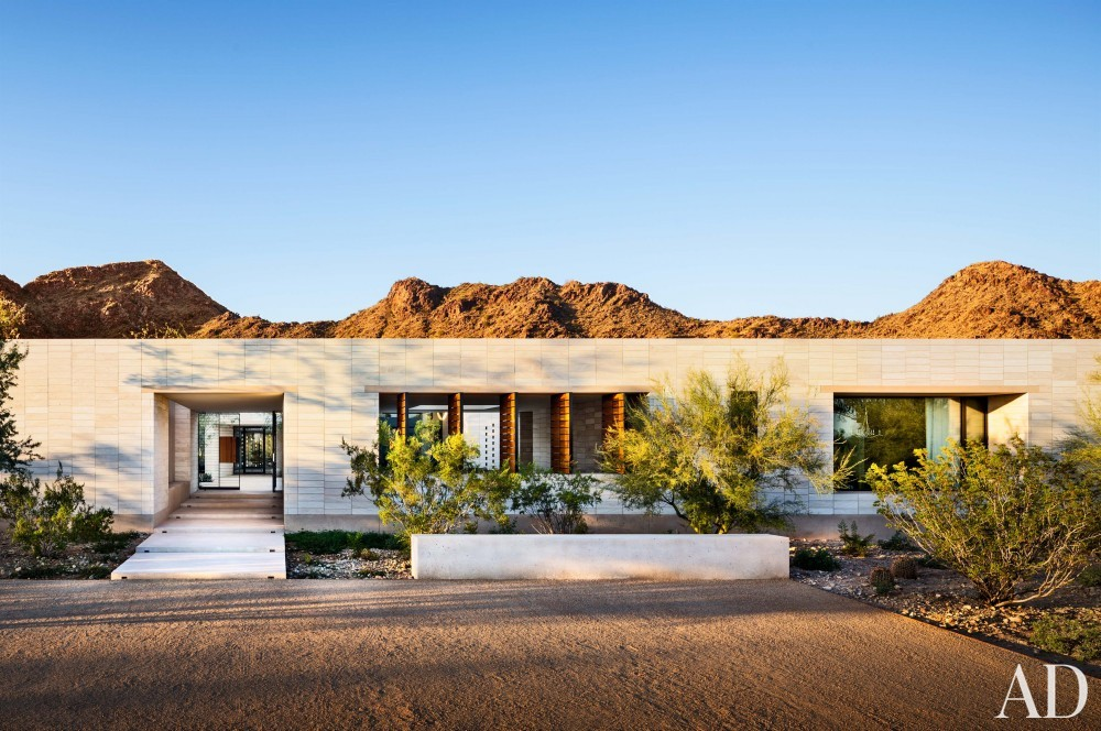 Contemporary Exterior by Jan Showers and Marwan Al-Sayed in Arizona