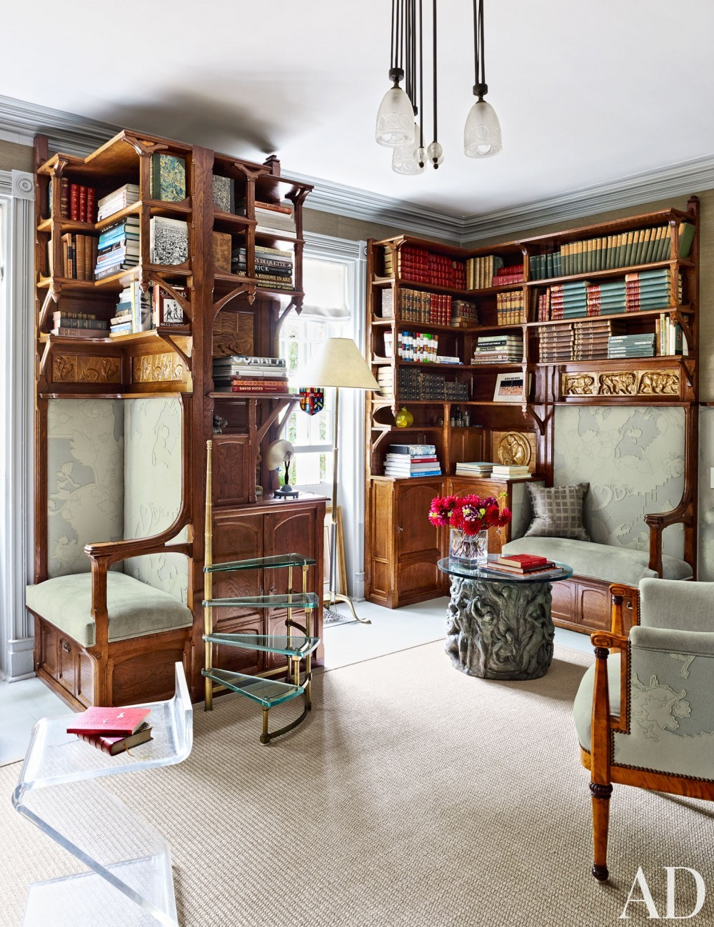 Traditional Office/Library by D\'Aquino Monaco and D\'Aquino Monaco in Hudson River Valley, NY