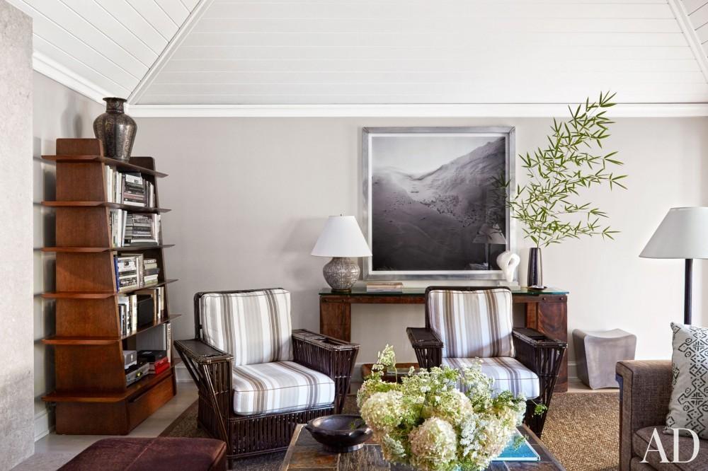 Modern Living Room by David Kleinberg in East Hampton, NY