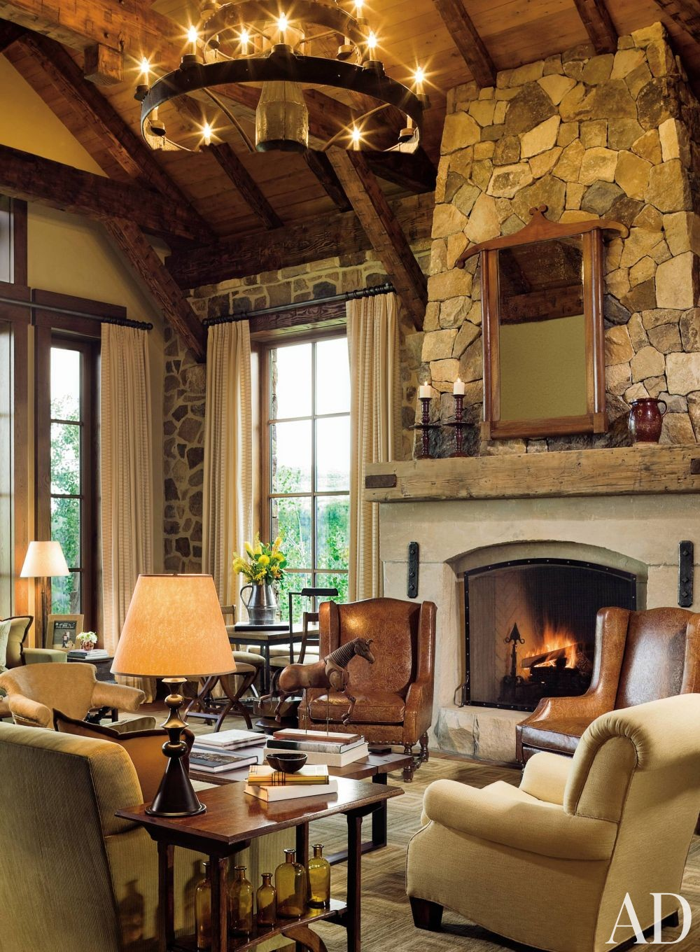 Living Room by Cullman & Kravis and Resort Design Architects in Colorado