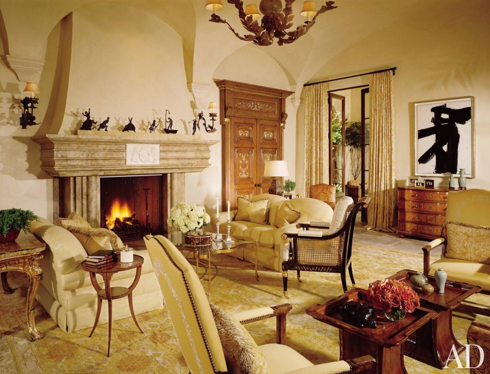 Living room by london boone by architectural digest ad for The family room los angeles
