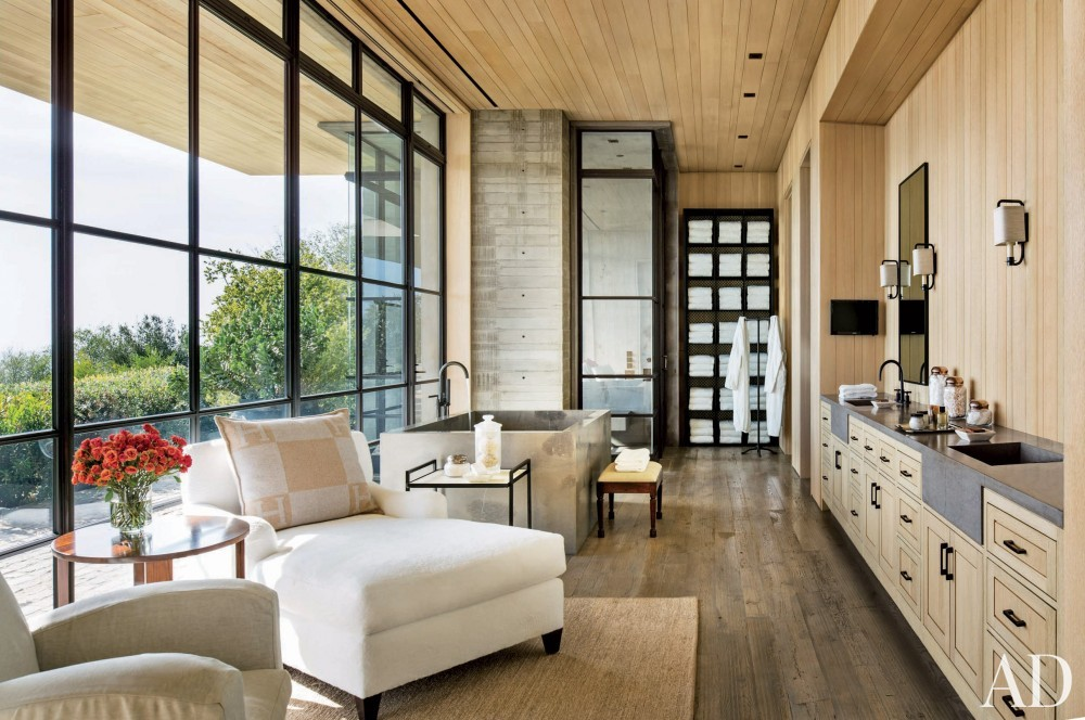 Modern Bathroom by Denise Kuriger and Scott Mitchell in Malibu, California