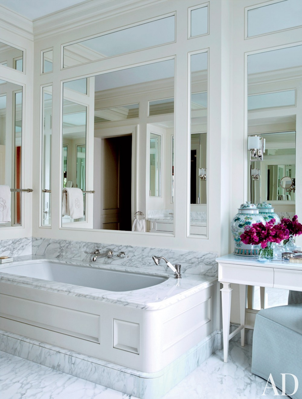 Modern Bathroom and Robert A.M. Stern Architects in Greenwich Village, NY
