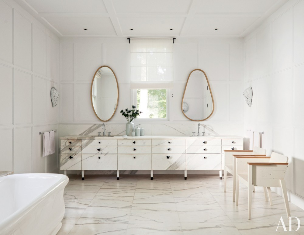 Modern Bathroom by India Mahdavi in Litchfield County, CT