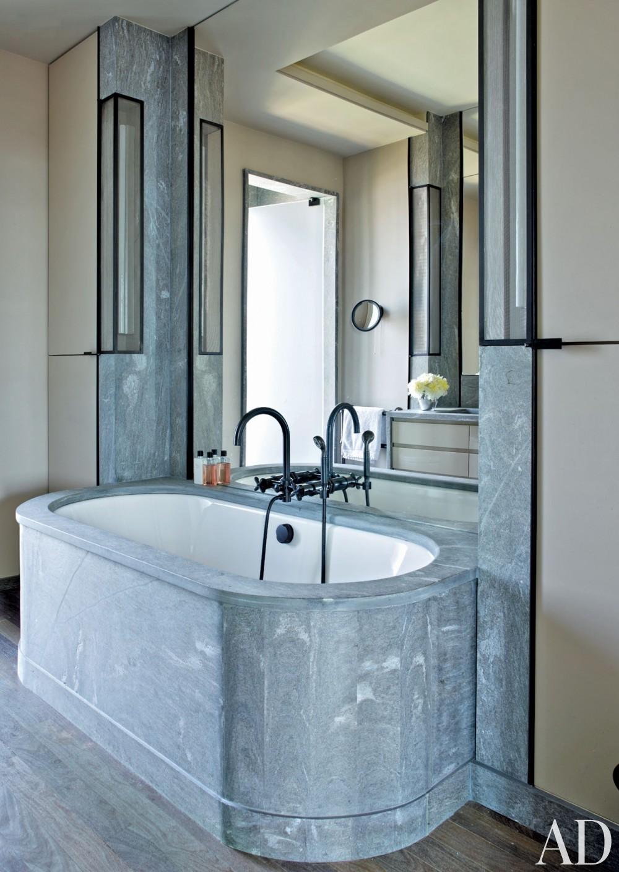 Modern Bathroom by Jean-Louis Deniot in West Side, Manhattan