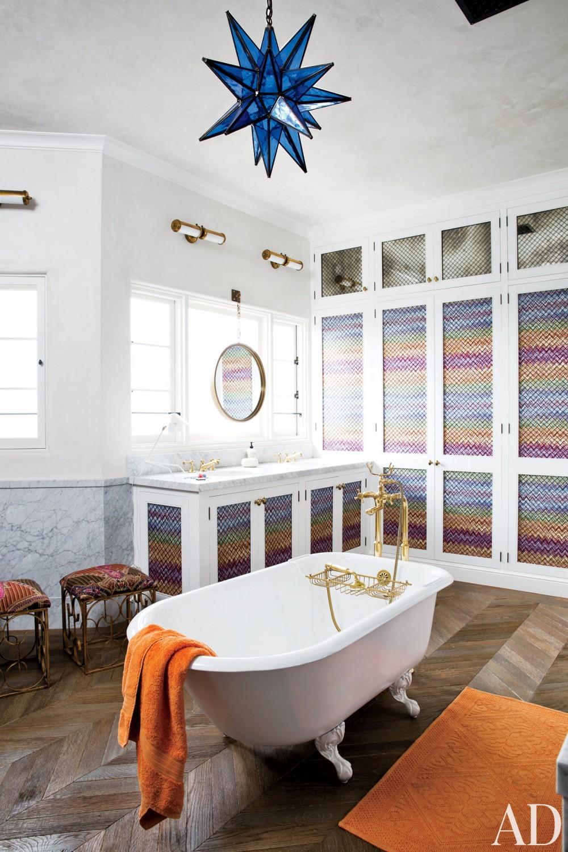 Modern Bathroom by Martyn Lawrence Bullard Design in Los Angeles, CA