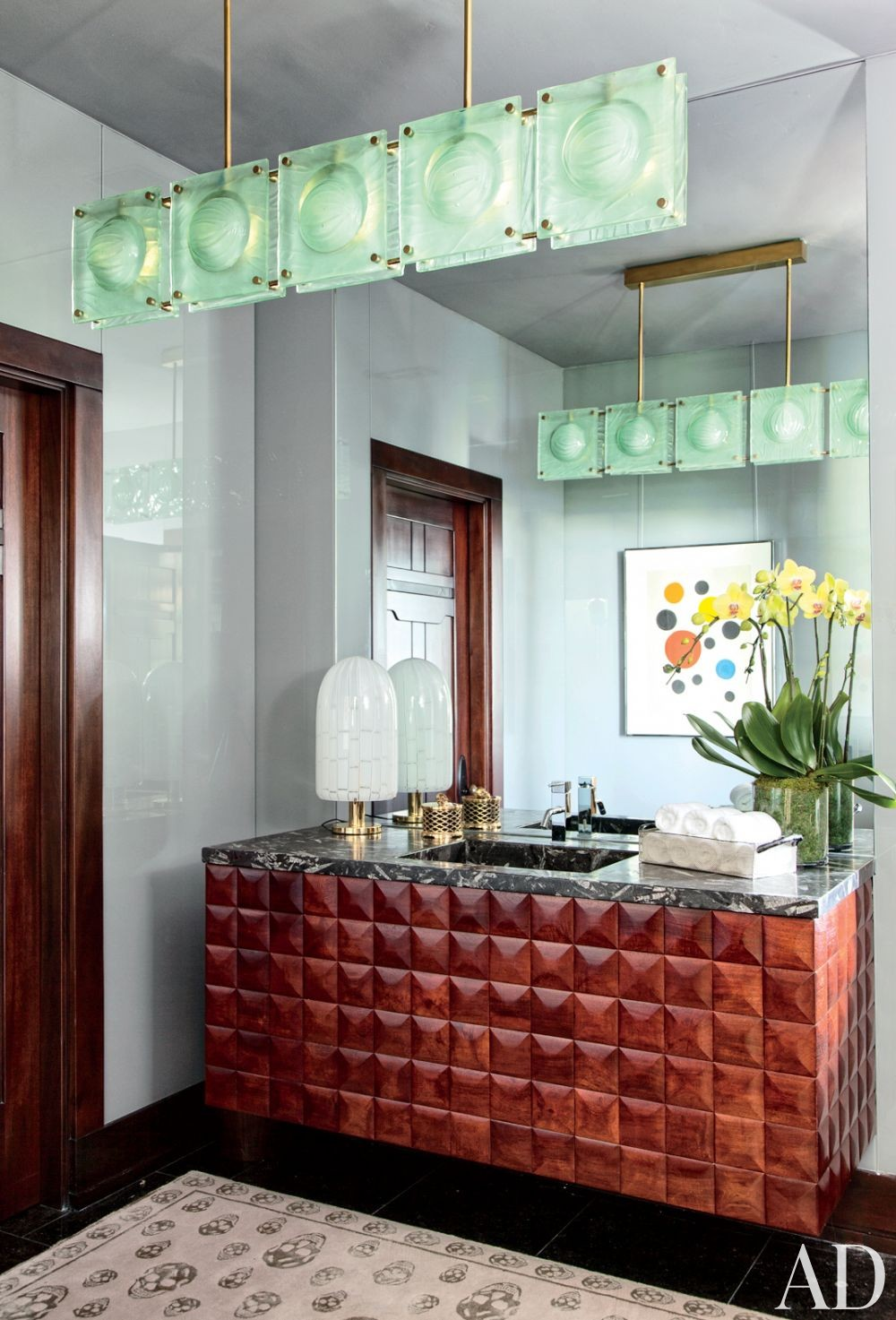 Modern Bathroom by Nancy Heller in Los Angeles, California