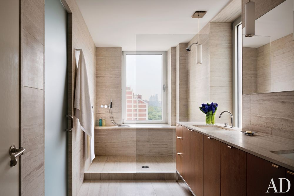 Modern Bathroom by Rees Roberts + Partners and Steven Harris Architects in New York, New York