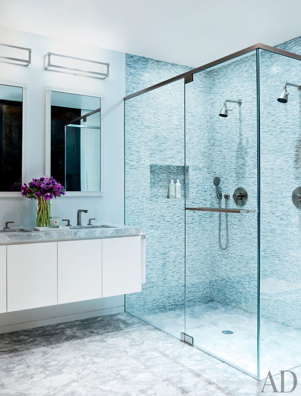 Modern Bathroom by Shawn Henderson Interior Design and Richard Perry Architect in New York, New York