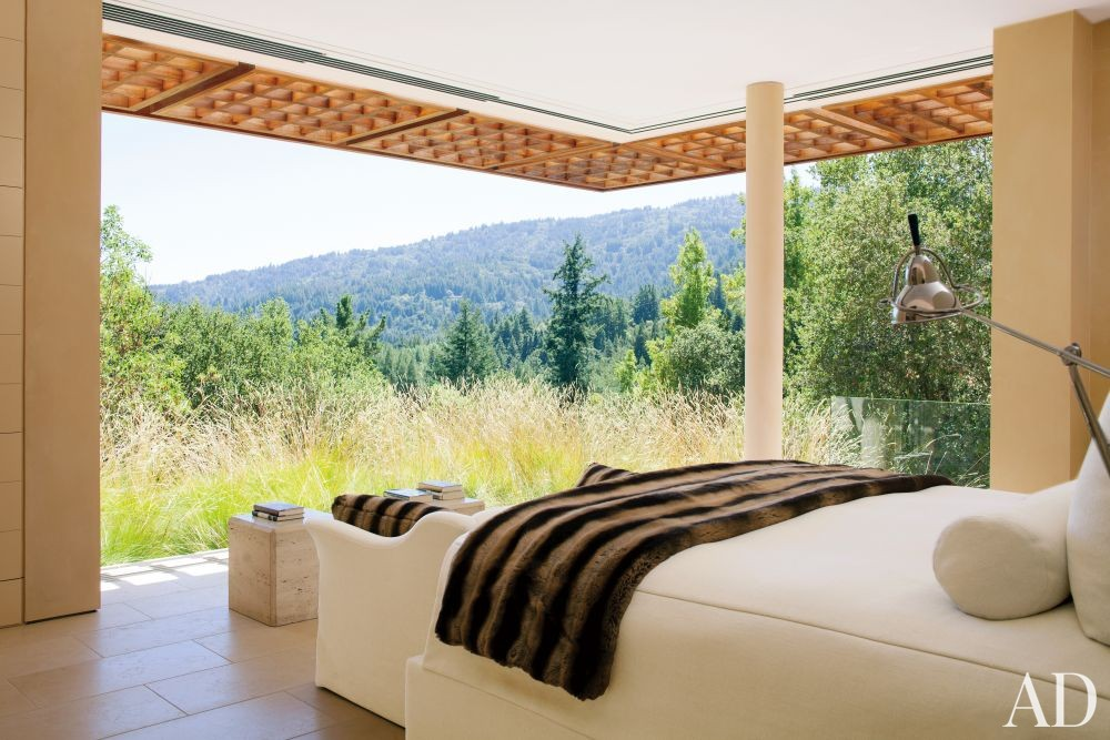 Modern Bedroom by April Powers and Backen, Gillam & Kroeger Architects in Woodside, California