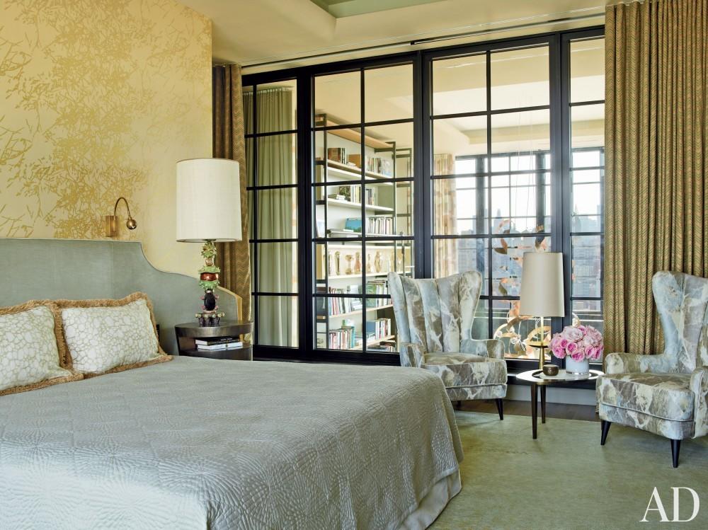 Modern Bedroom by Jean-Louis Deniot in West Side, Manhattan