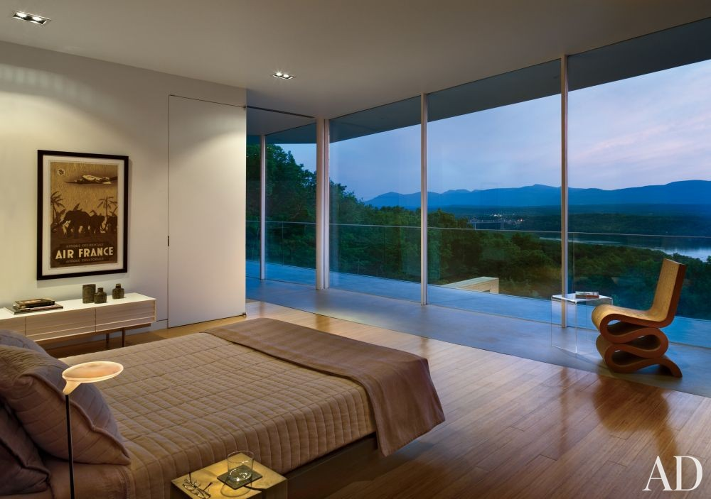 Modern Bedroom by Joel Sanders Architect and Joel Sanders Architect in Hudson River Valley, New York