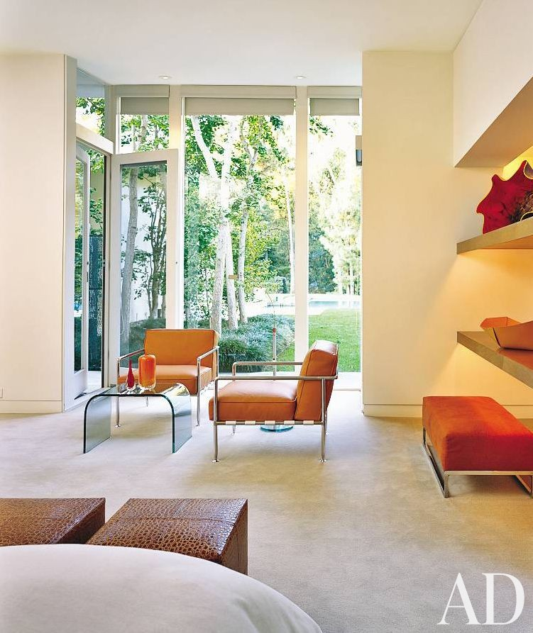 Modern Homes Los Angeles California: Modern Bedroom By Architectural Digest