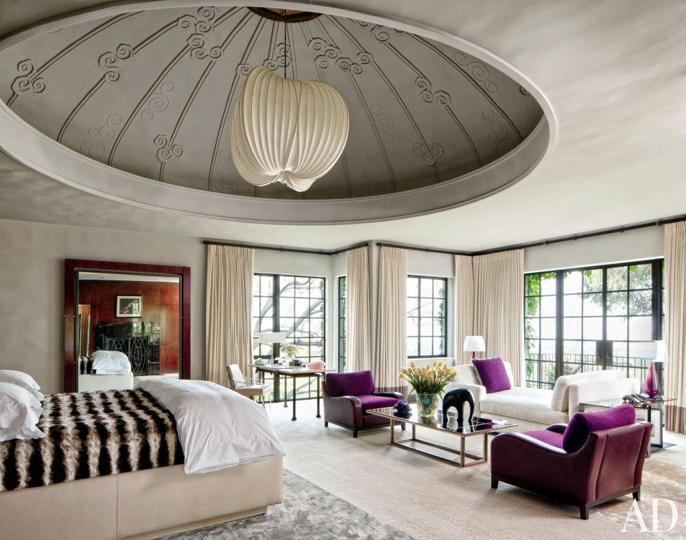 Modern Bedroom by Nancy Heller in Los Angeles, California
