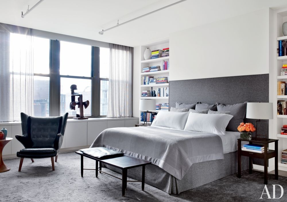 Modern bedroom by shawn henderson interior design by for Bedroom designs new york
