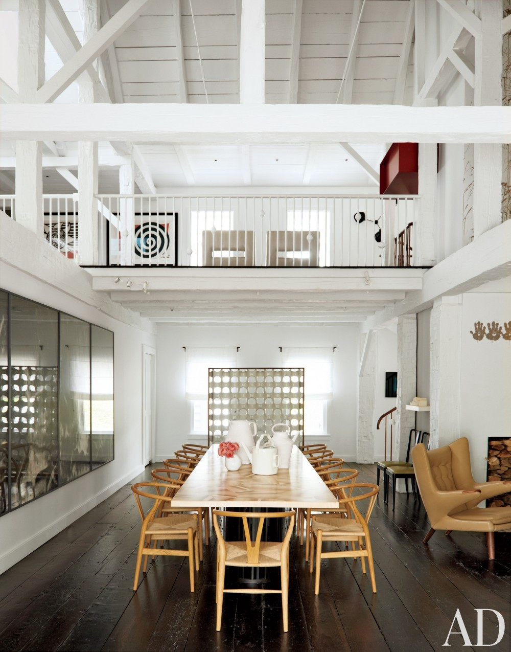 Modern Dining Room by India Mahdavi in Litchfield County, CT