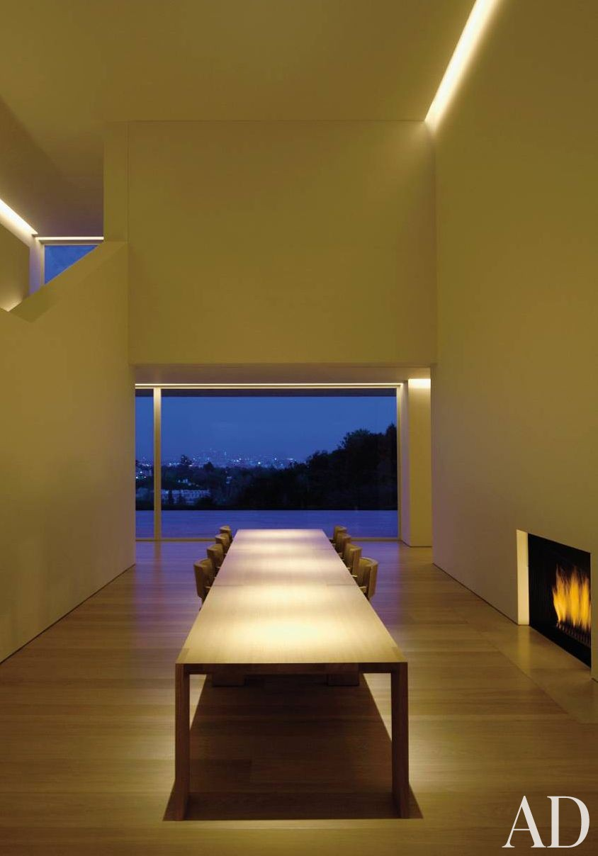 Modern Dining Room by John Pawson Ltd. and John Pawson Ltd. in Los Angeles, California