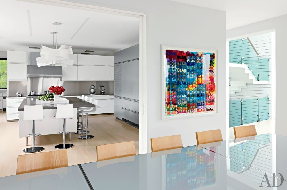 Modern Dining Room by KA Design Group and Leroy Street Studio in East Hampton, New York
