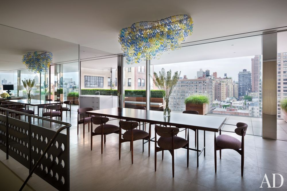 Modern Dining Room by Rees Roberts + Partners and Steven Harris Architects in New York, New York