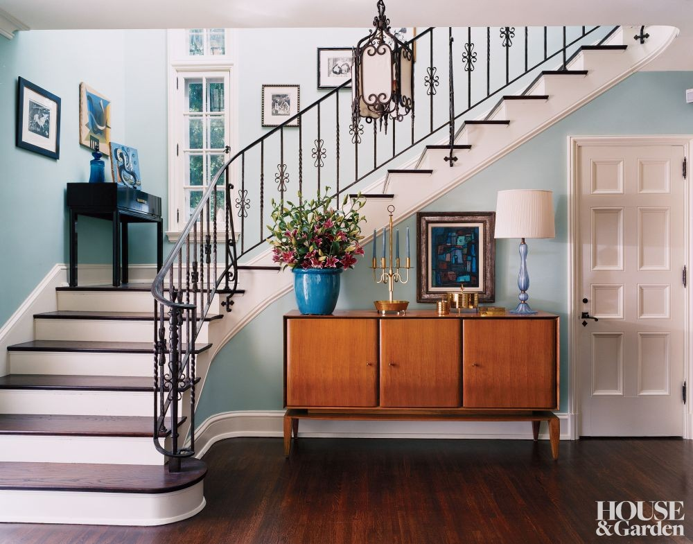 Modern entrance hall by architectural digest ad for Modern entrance hall