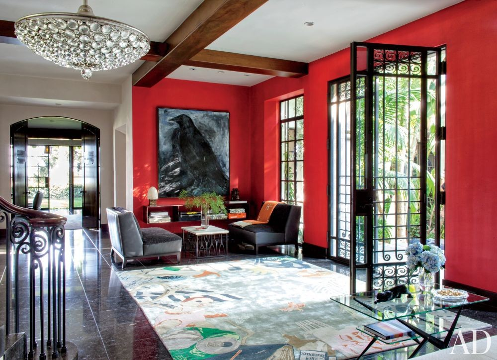 Modern Entrance Hall by Nancy Heller in Los Angeles, California