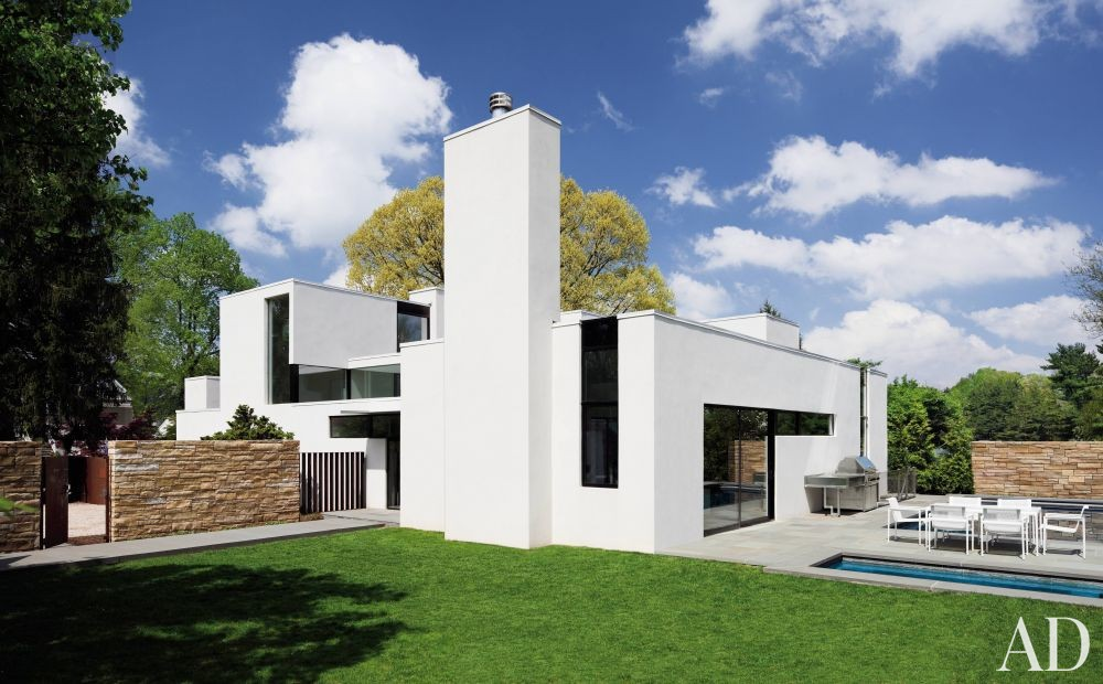 modern exterior by david jameson by architectural digest