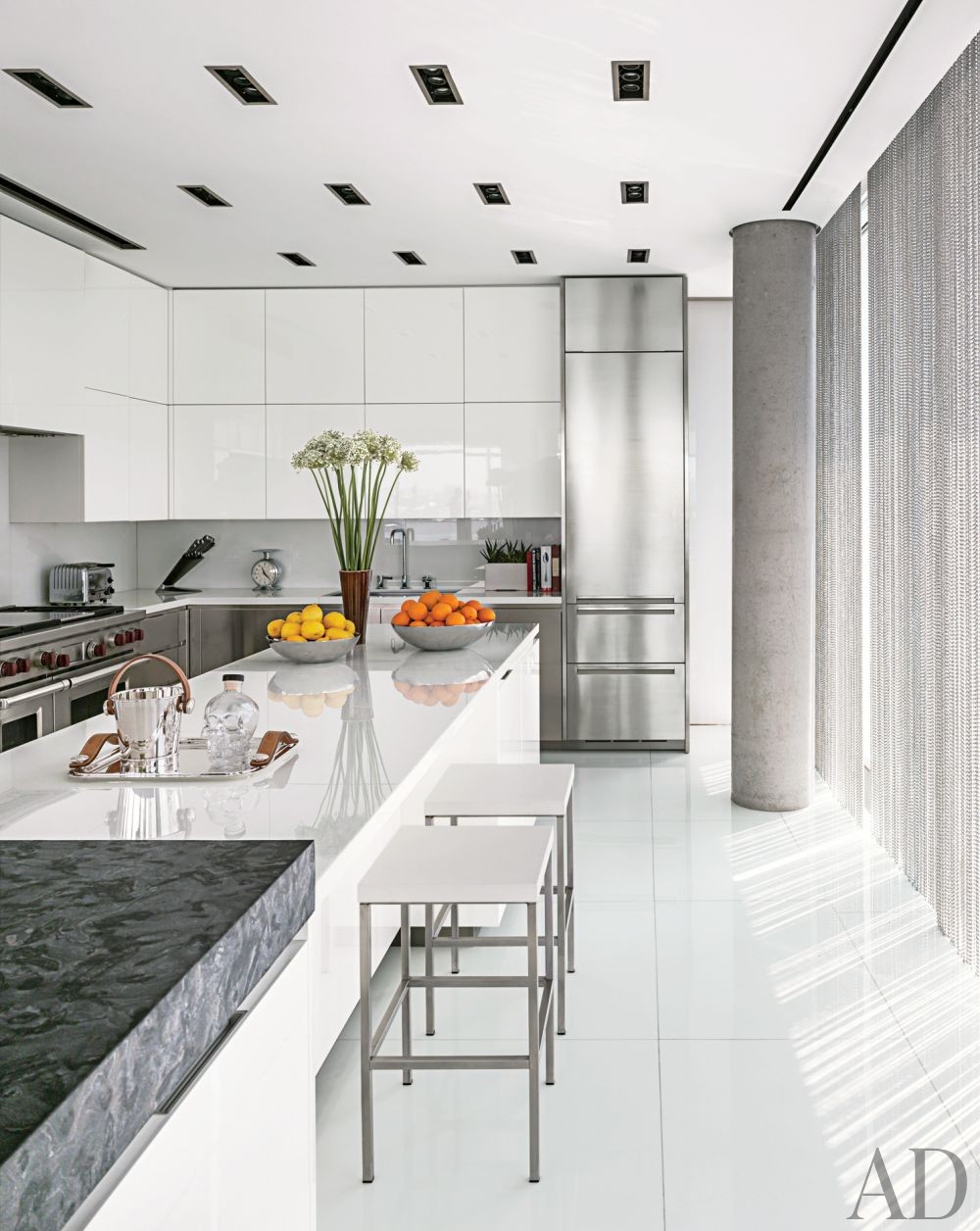 Modern kitchen by ingrao inc by architectural digest ad for Modern kitchen design new york
