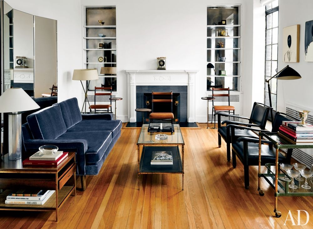 Modern Living Room by Biscaye Frères in New York, New York