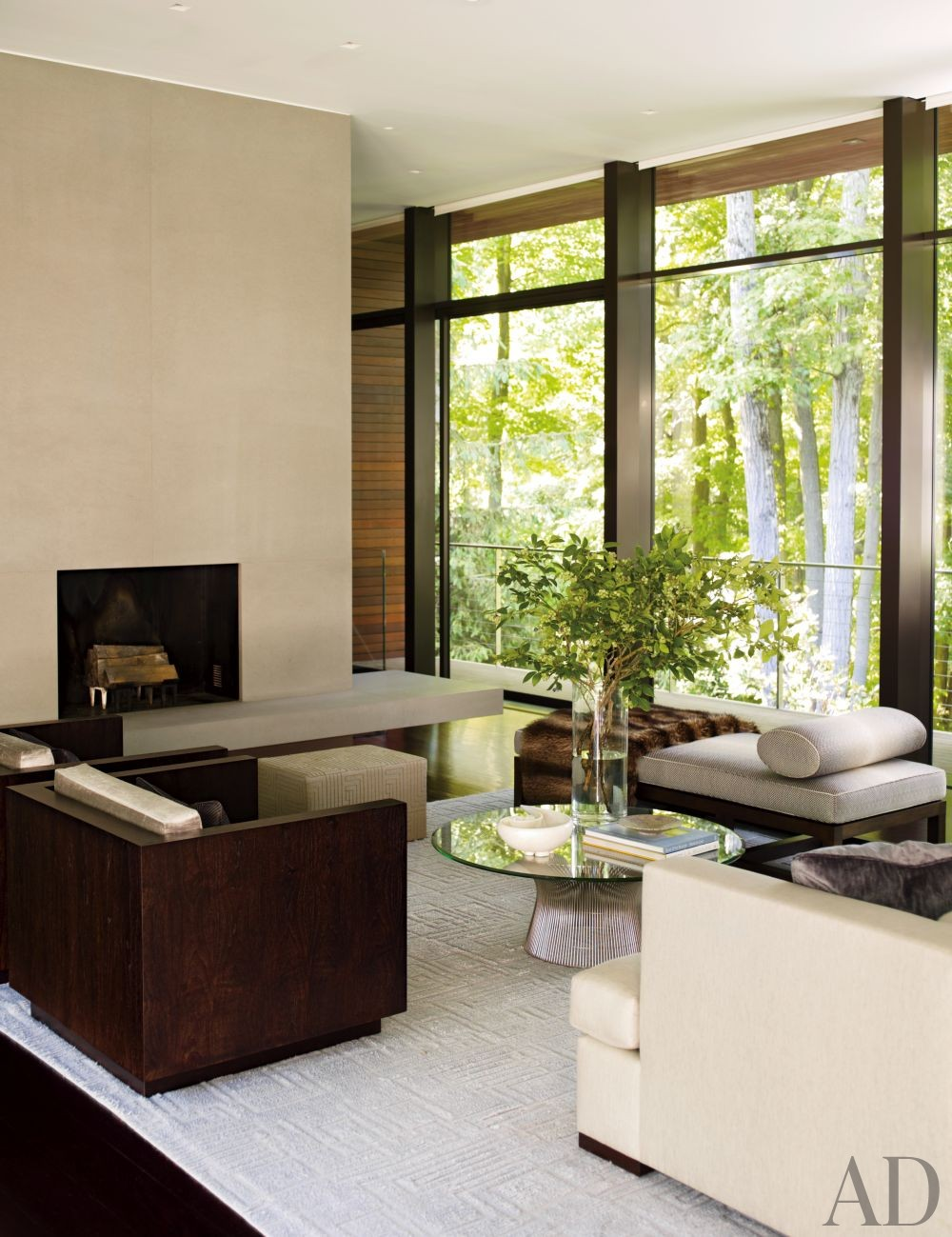 Modern Living Room by Carrier and Co. Interiors and Specht Harpman Architects in New Canaan, Connecticut