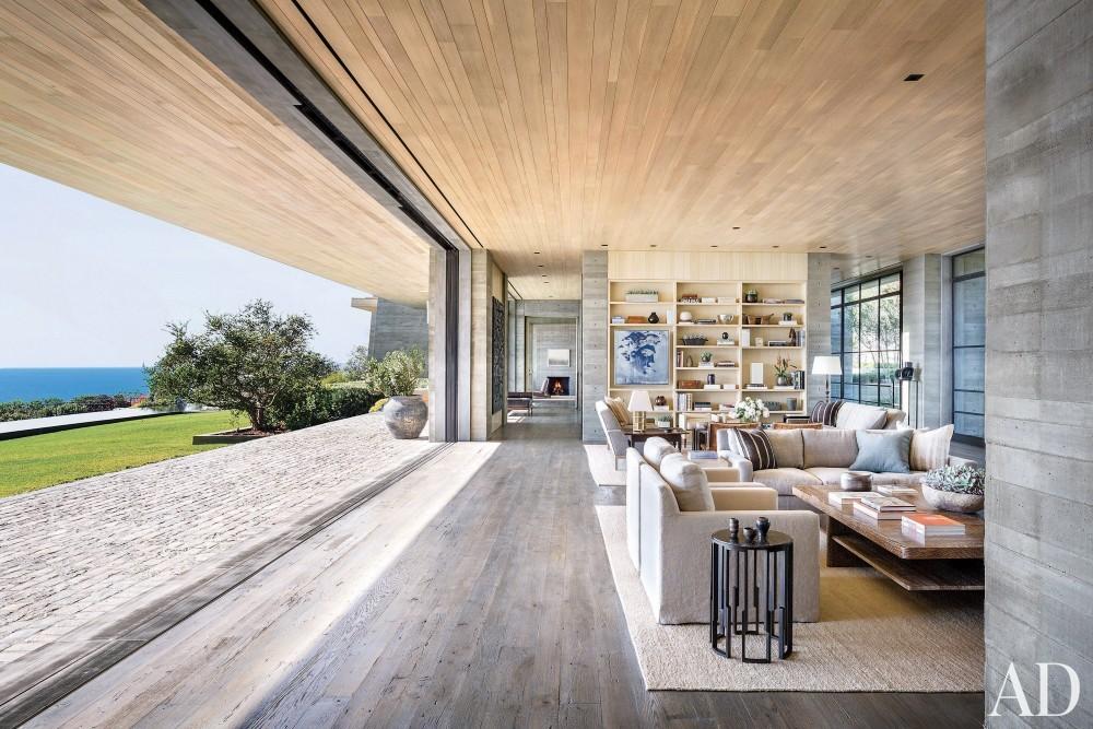 Modern Living Room by Denise Kuriger and Scott Mitchell in Malibu, California