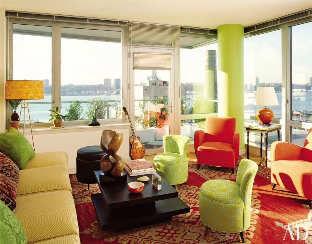 Modern living room by dorothy draper company by for Modern living room nyc