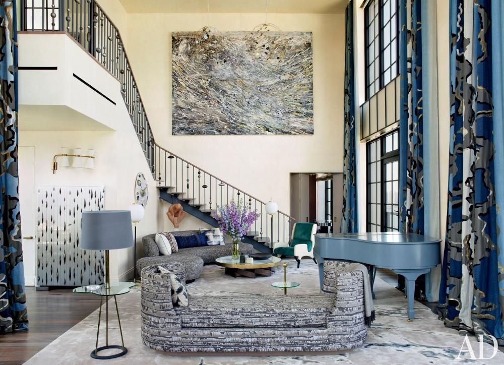 Modern Living Room by Jean-Louis Deniot in West Side, Manhattan