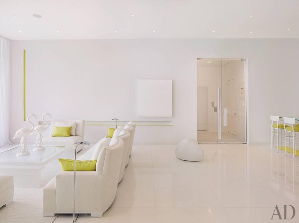 Modern Living Room by Jennifer Post in Miami Beach, FL