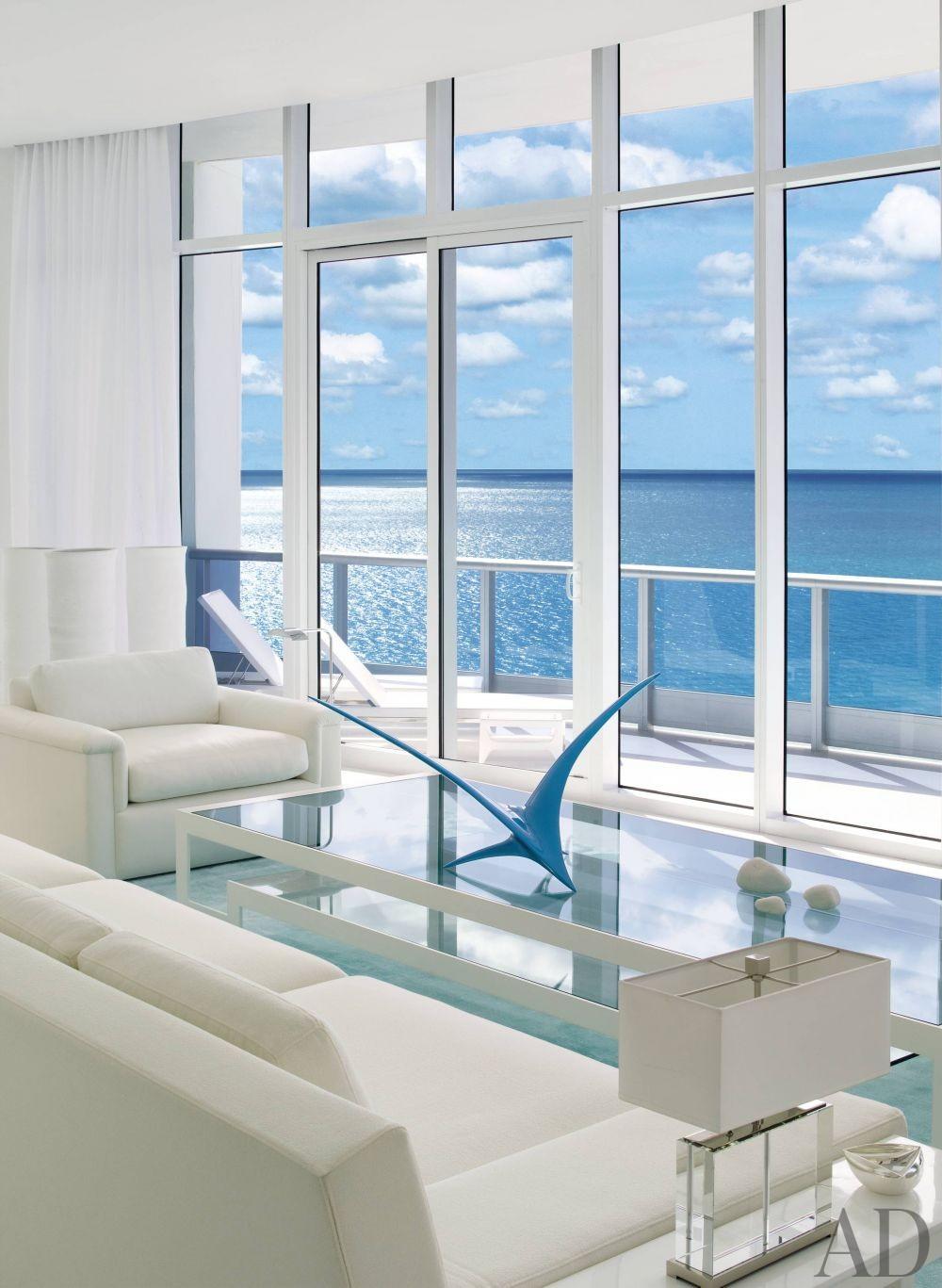 modern living room by jennifer post in miami beach florida