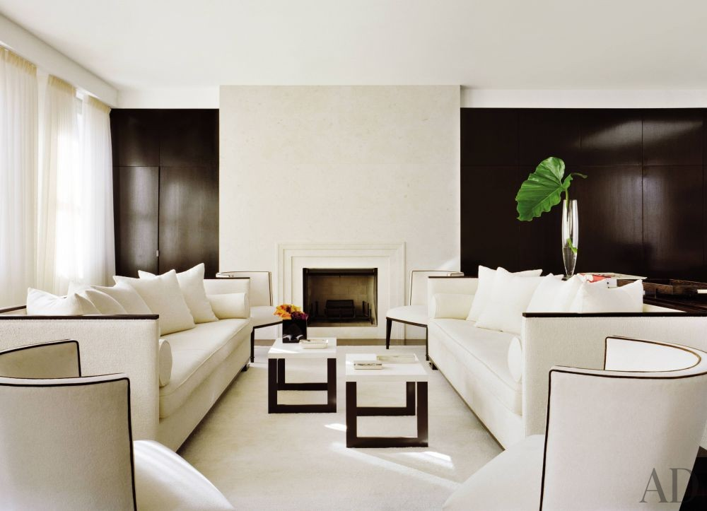 Modern living room by jennifer post by architectural - Cuisine moderne images architectural digest ...
