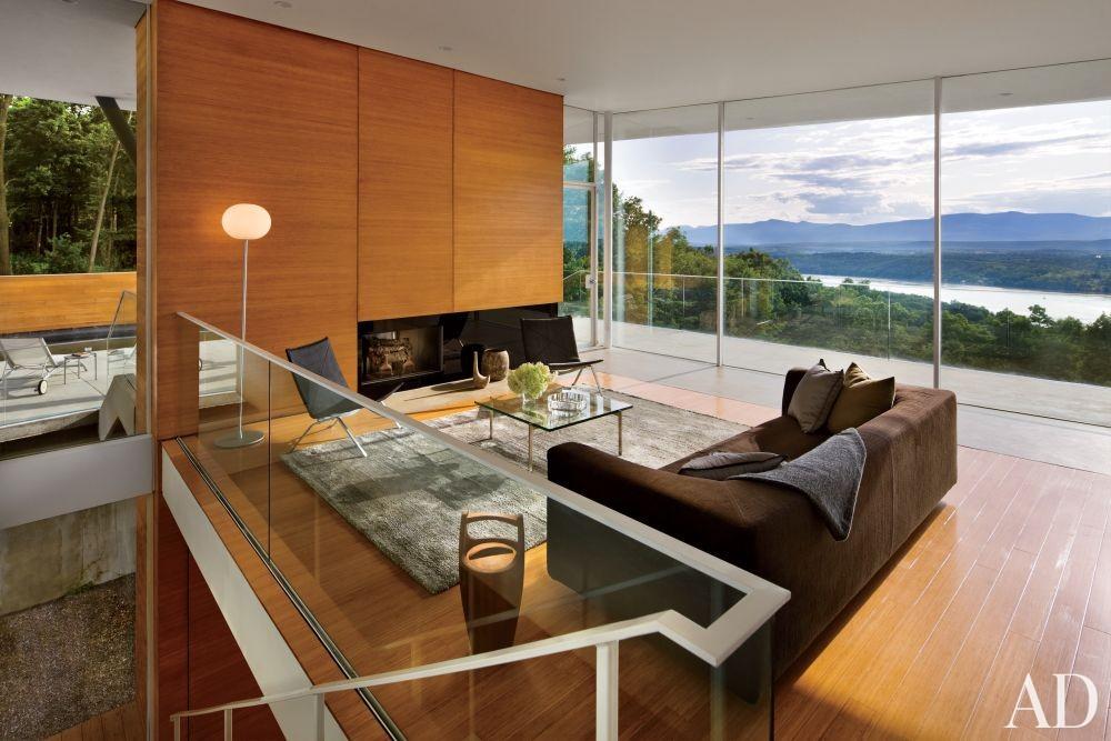 Modern Living Room by Joel Sanders Architect and Joel Sanders Architect in Hudson River Valley, New York