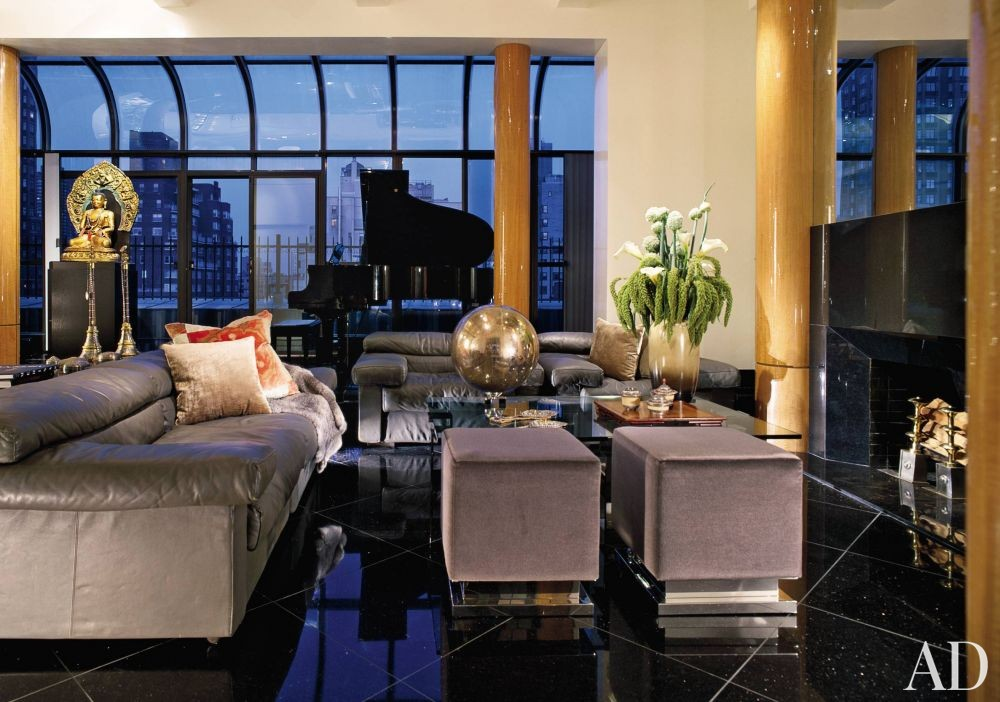 Modern living room by juan montoya design by architectural for Modern living room nyc