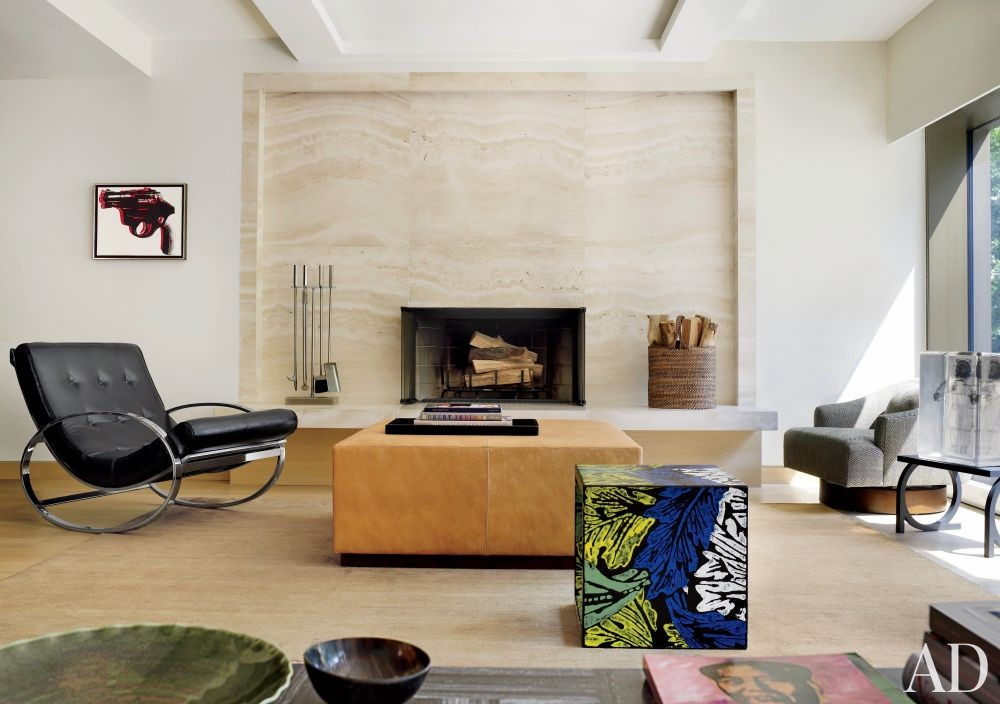 Modern living room by mac ii by architectural digest ad for Modern new york living room