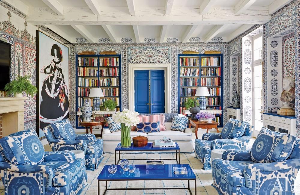 Modern Living Room by Miles Redd in Houston, TX