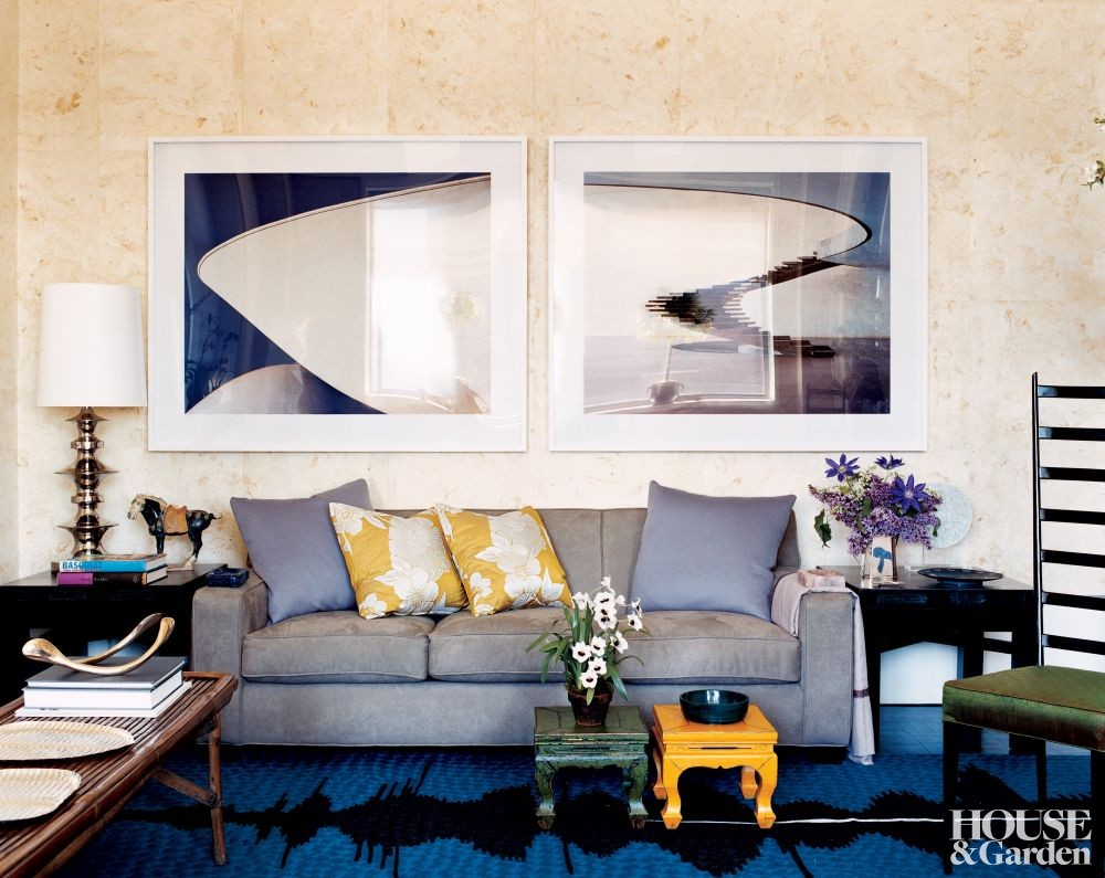 Modern living room by carlos souza by architectural digest for Modern new york living room