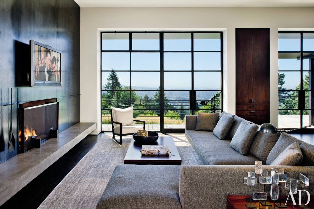 Modern Living Room by Olson Kundig Architects and Olson Kundig Architects in Portland, OR