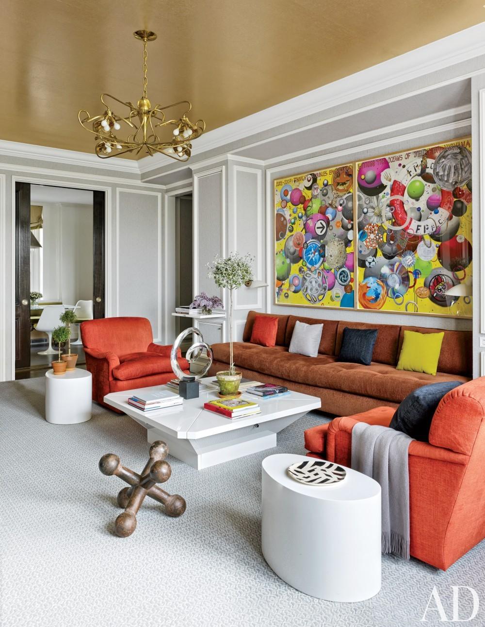 Modern Living Room by Stephen Sills Associates and John B. Murray Architect in New York, New York