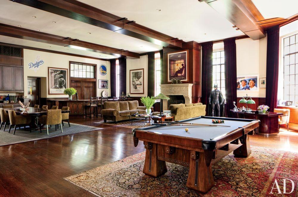 Modern Media/Game Room by Nancy Heller in Los Angeles, California