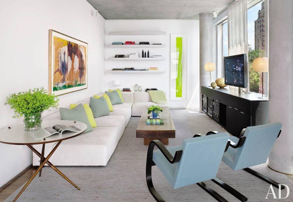 Modern Media/Game Room by Shelton, Mindel & Associates in New York, New York